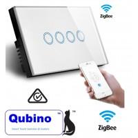 Qubino ZigBee 4 Gang Touch Switch